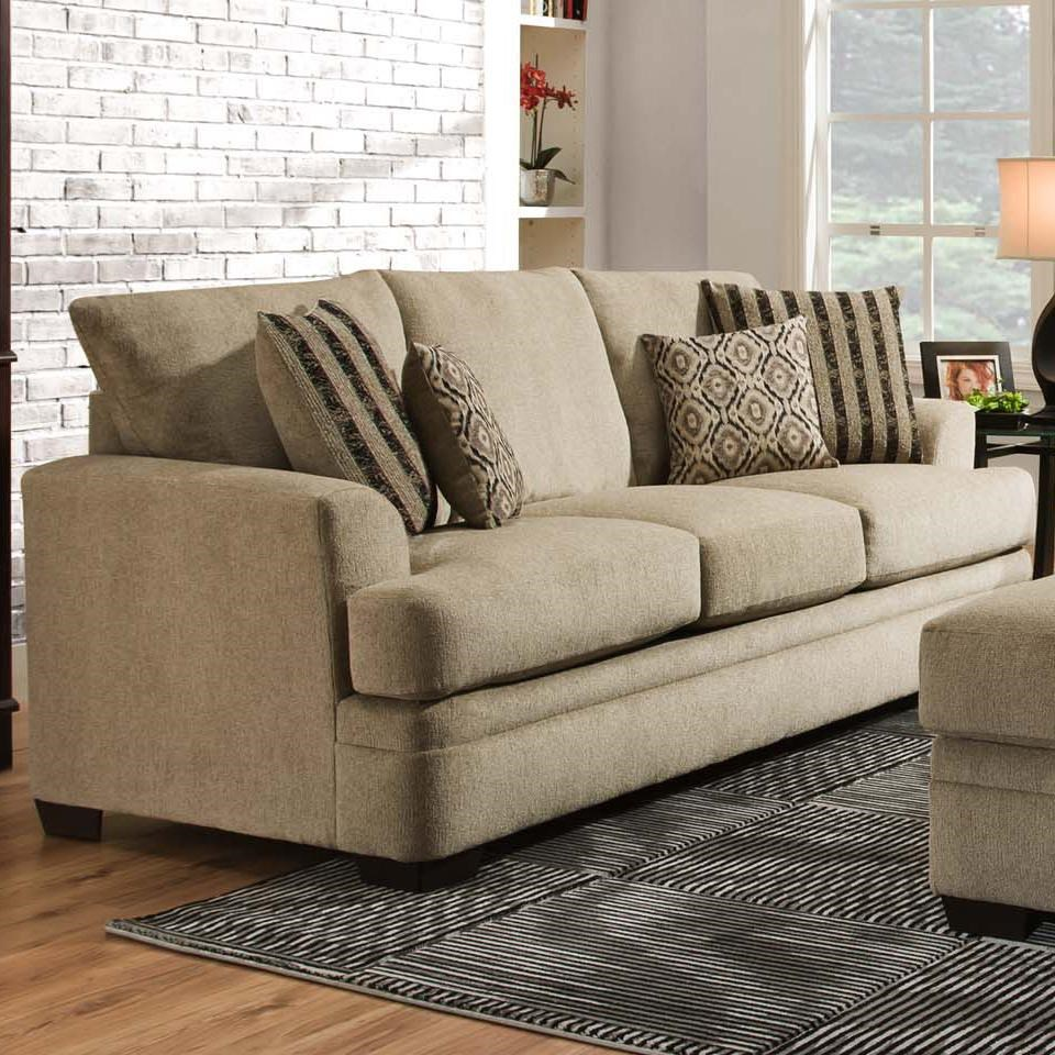 American Furniture 3650 Casual Sofa With 3 Seats Miskelly  ~ Sofa Bed American Furniture