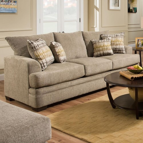 American Furniture 3650 Casual Sofa with 3 Seats