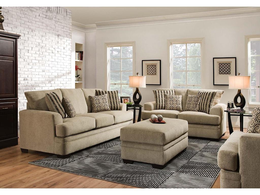 American Furniture 3650Storage Ottoman