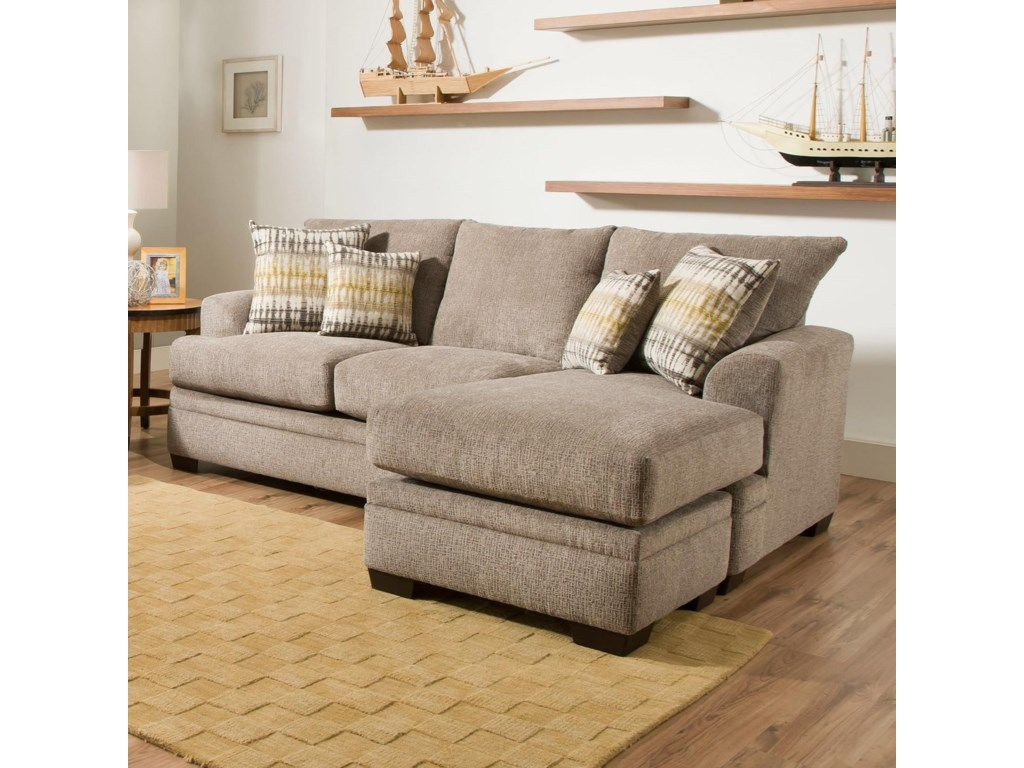3650 Sofa Chaise by American Furniture at VanDrie Home Furnishings