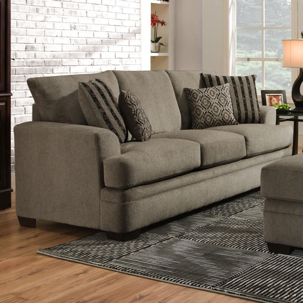 American Furniture 3650 Casual Queen Sofa Sleeper With 3 Seats  ~ Sofa Bed American Furniture