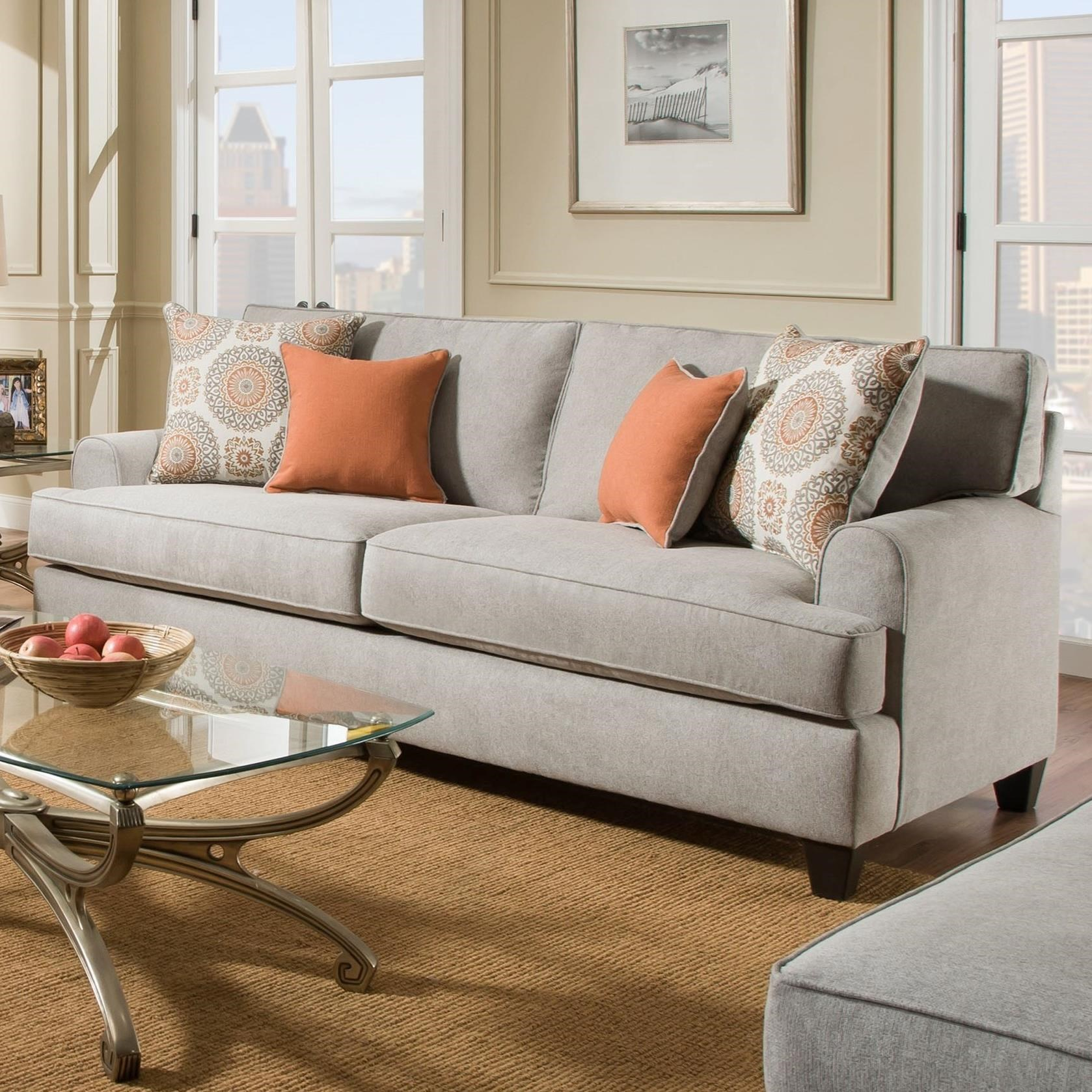 American Furniture 3650 Casual Queen Sofa Sleeper With 3 Seats