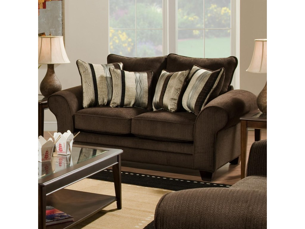 American Furniture 3700 Casual Upholstered Love Seat Prime