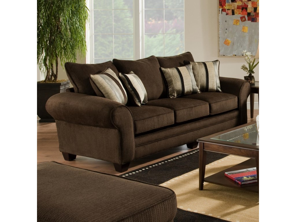 American Furniture 3700Upholstered Stationary Sofa