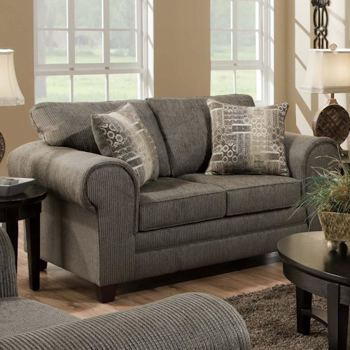 American Furniture 3750  Contemporary Loveseat with Casual Design Style
