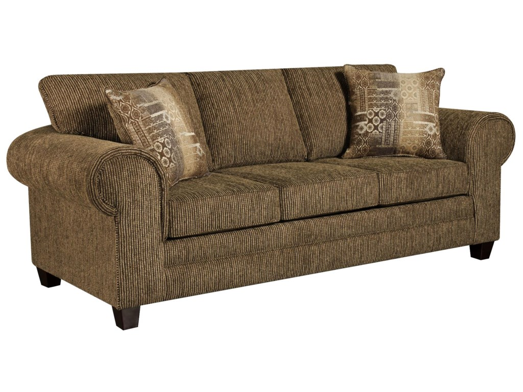 3750 Contemporary Sofa with Casual Design Style by American Furniture at  Miskelly Furniture