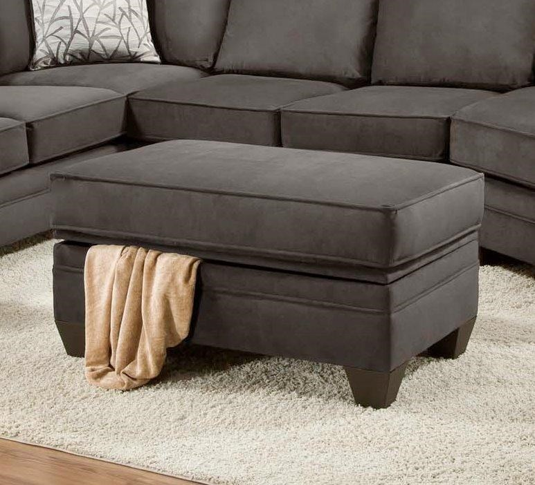 American Furniture 3810 Storage Ottoman for Sectional Sofa ...