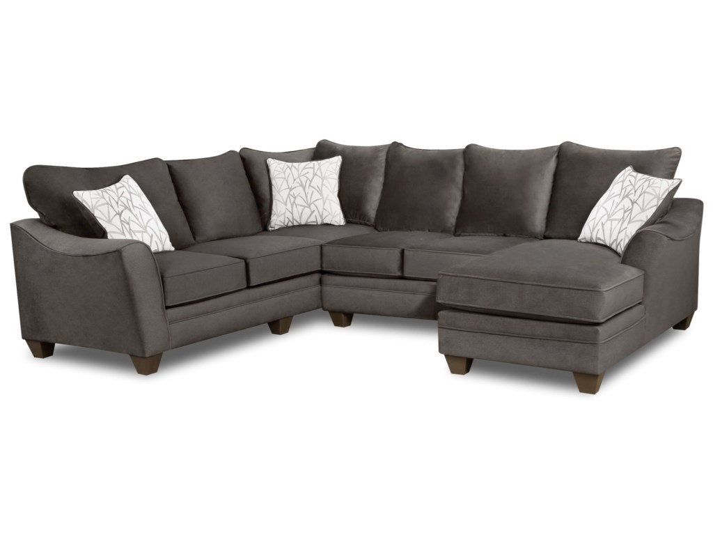 American Furniture 3810 Sectional Sofa with 5 Seats | Furniture Fair ...