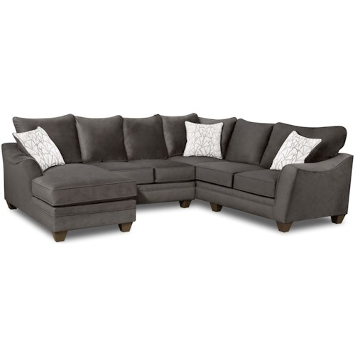 American Furniture 3810 Sectional Sofa with 5 Seats