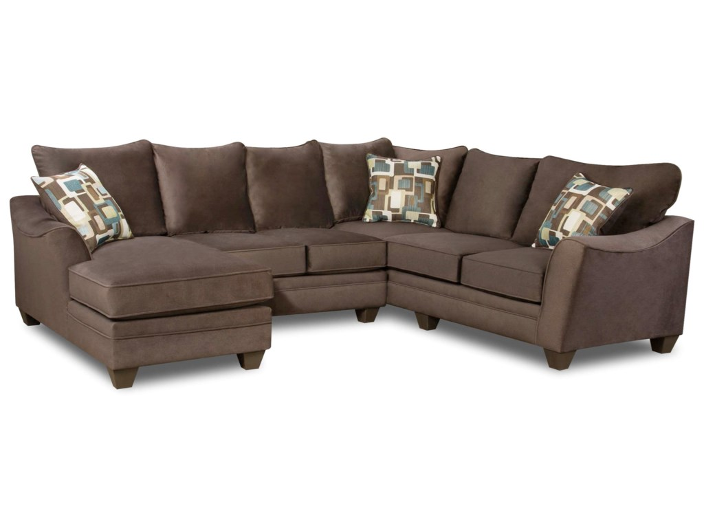 American Furniture 3810Sectional Sofa with 5 Seats