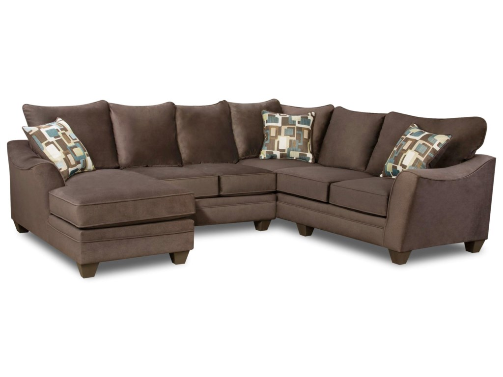 American Furniture 3810 Sectional Sofa With Left Side Chaise