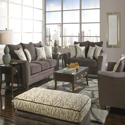 Awesome American Furniture 3850 Stationary Living Room Group