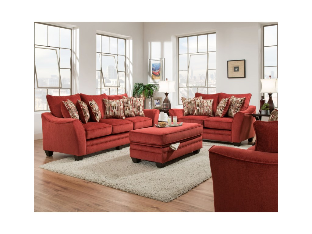American Furniture 3850Stationary Living Room Group