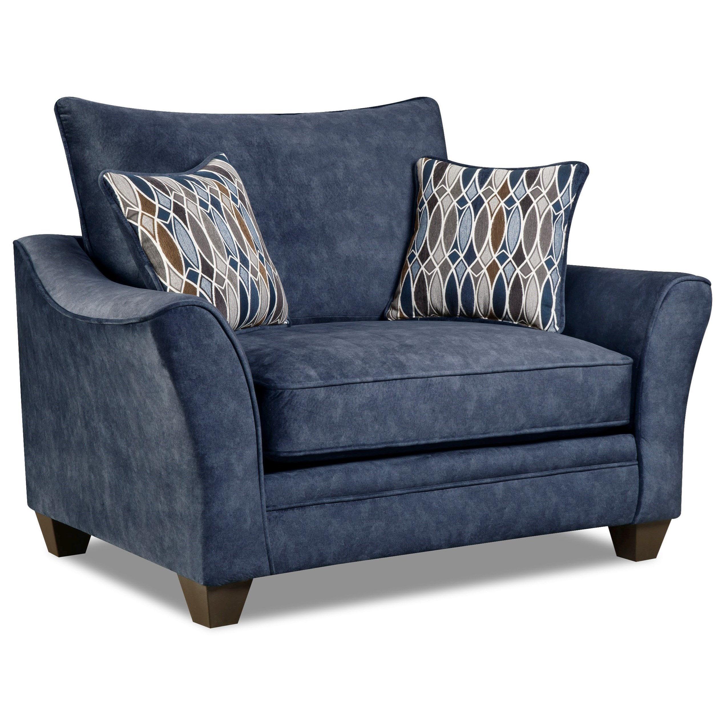 Awesome American Furniture 3850 3851 Athena Navy Chair And A Half With Casual Look  | Great American Home Store | Chair U0026 A Half