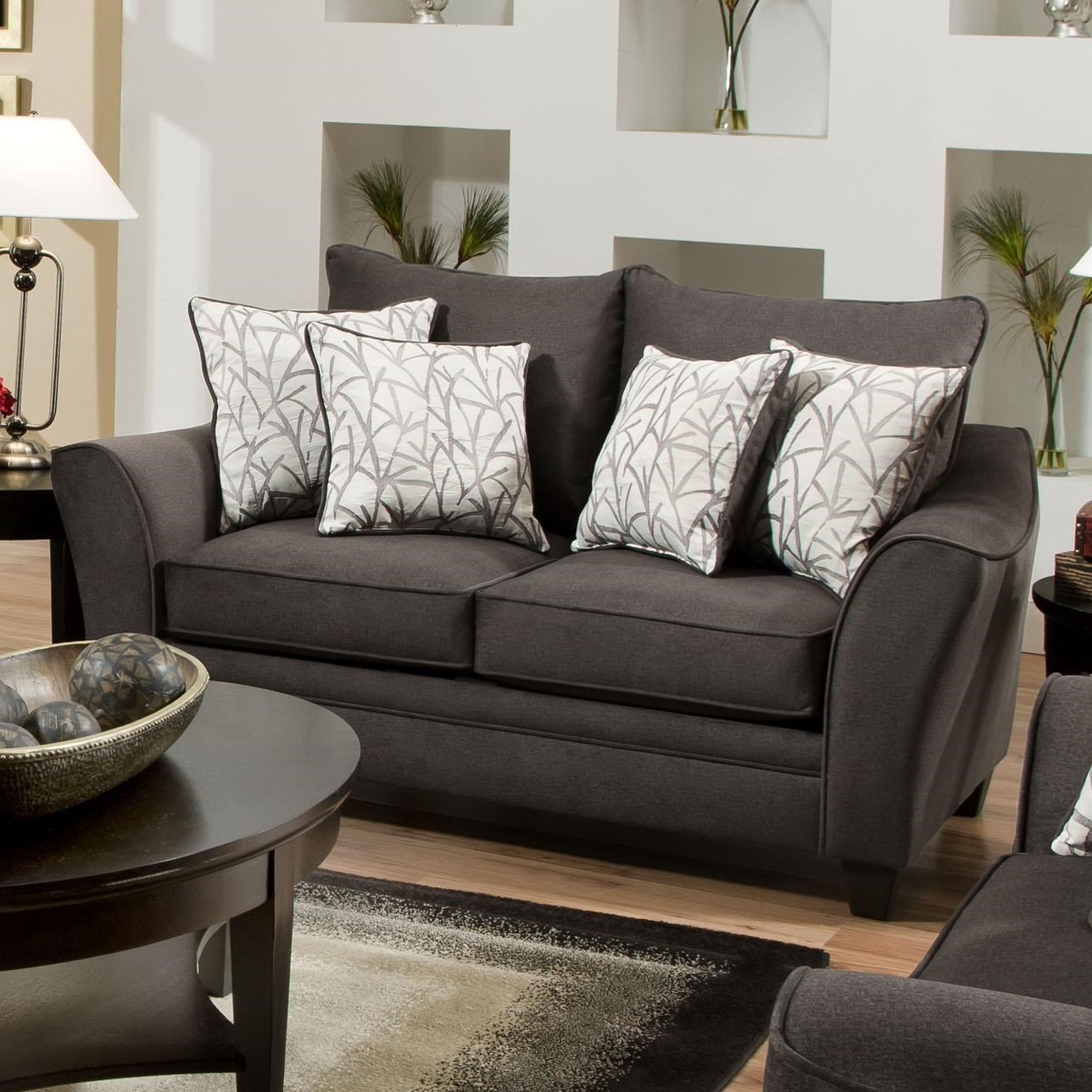 Living Room Furniture Jacksonville Nc american furniture 3850 elegant loveseat with contemporary style