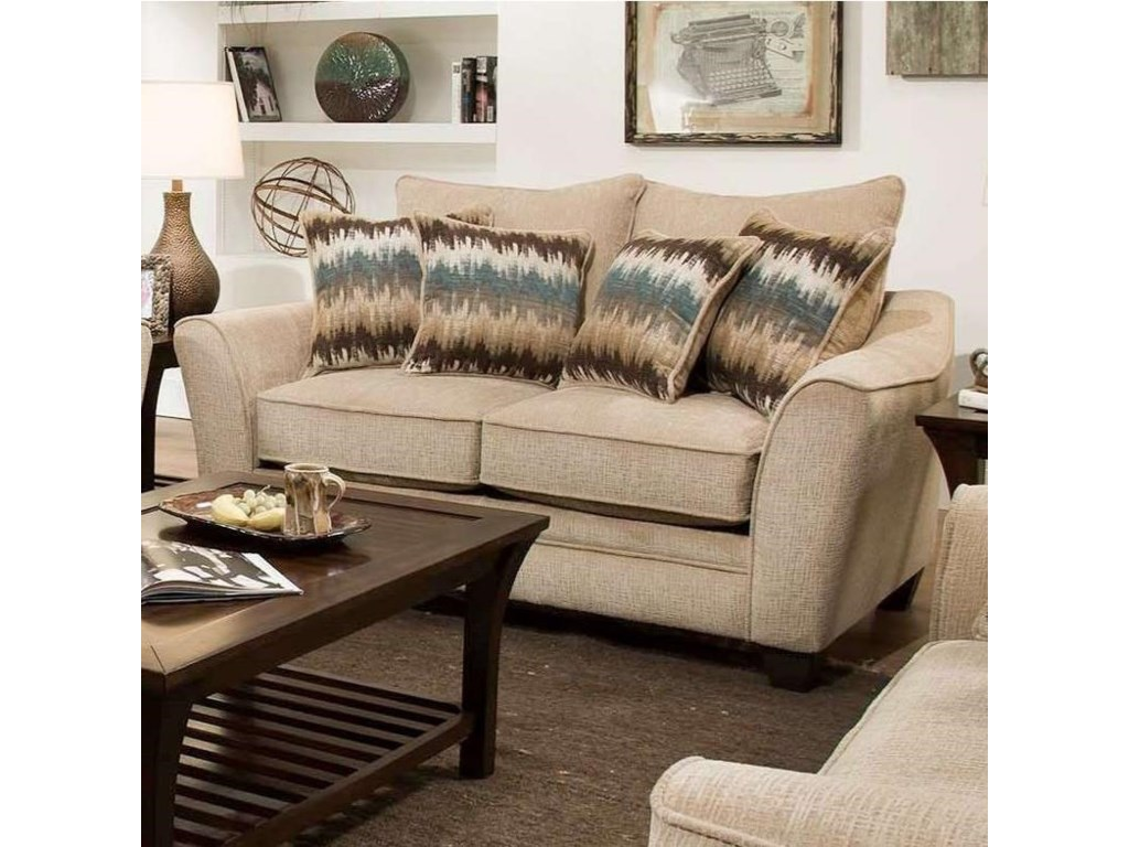 American Furniture 3850 Elegant Loveseat With Contemporary Style