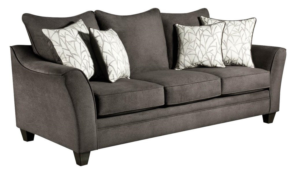 American Furniture 3850 Elegant Sofa With Contemporary Style Royal