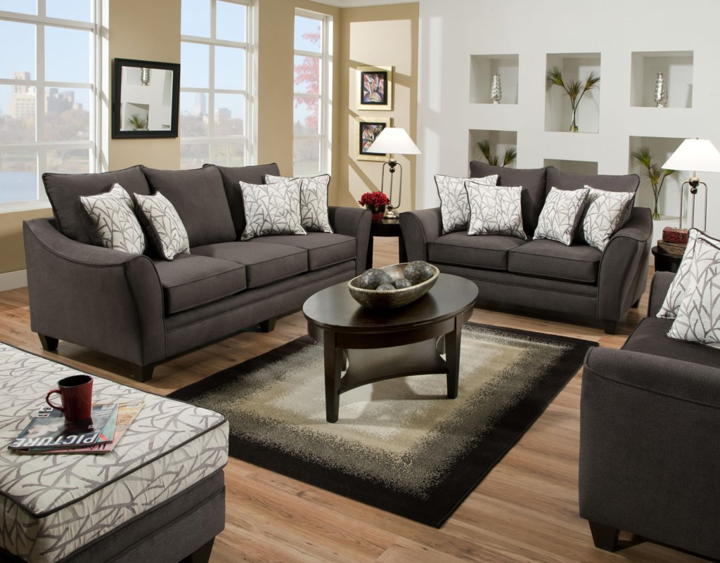 Sofa Contemporary Style american furniture 3850 elegant sofa with contemporary style