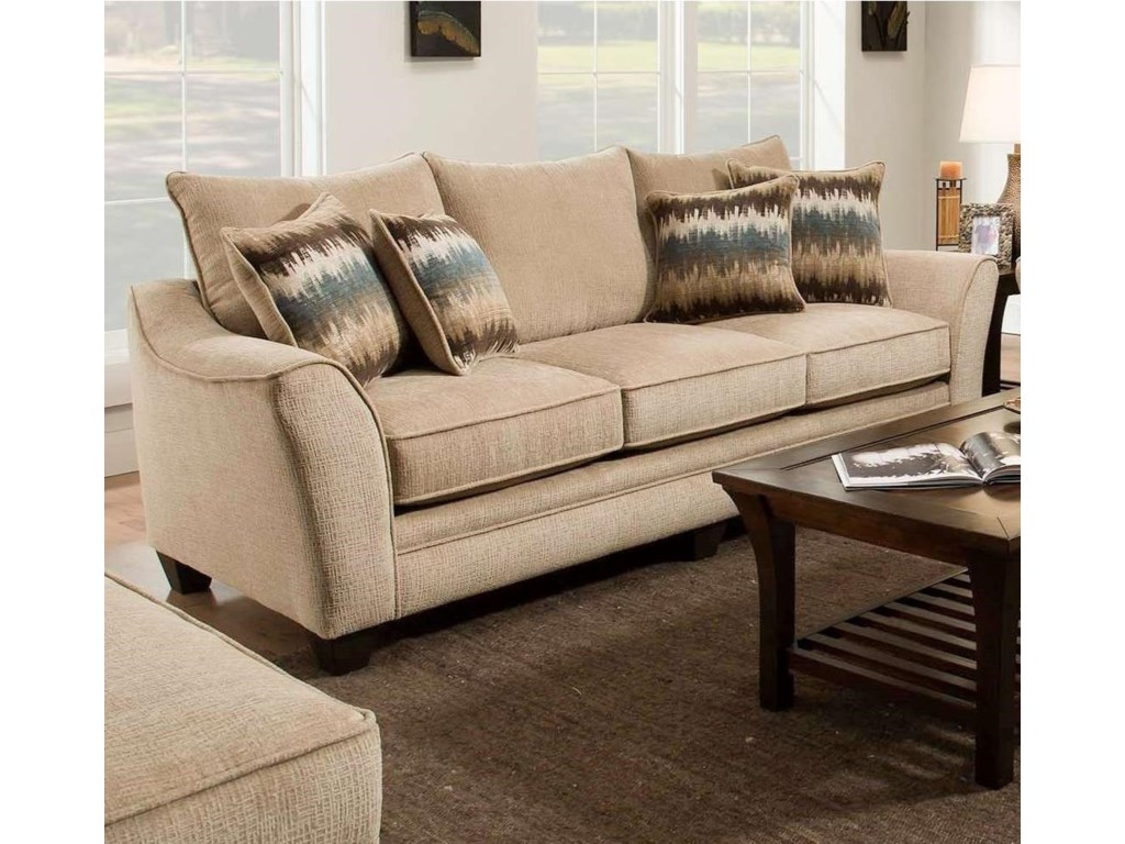 Home Living Room Furniture Sofas American 3850 Sofa Shown In Perth Oatmeal 4212