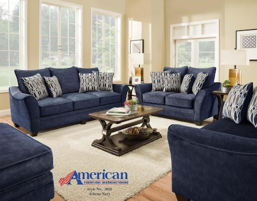 American Furniture 3850 Navy Group