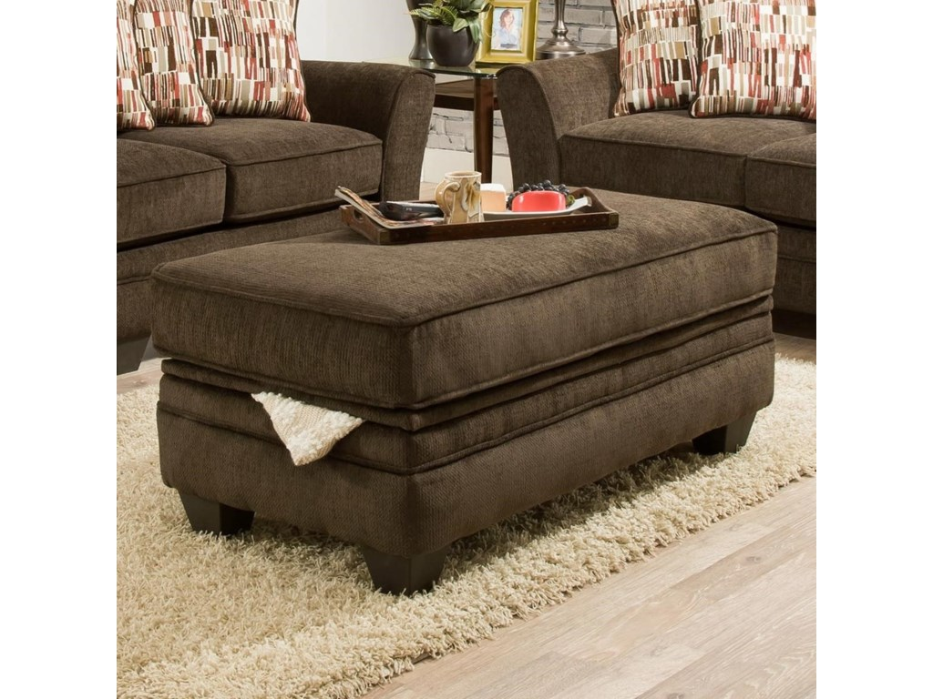American Furniture 3850Storage Ottoman