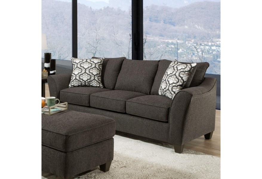 4550 Transitional Sofa With Flared Arms By American Furniture At Vandrie Home Furnishings