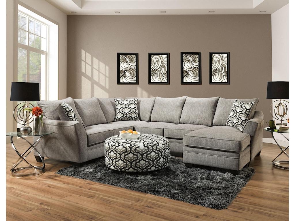 American Furniture Della2-Piece Sectional