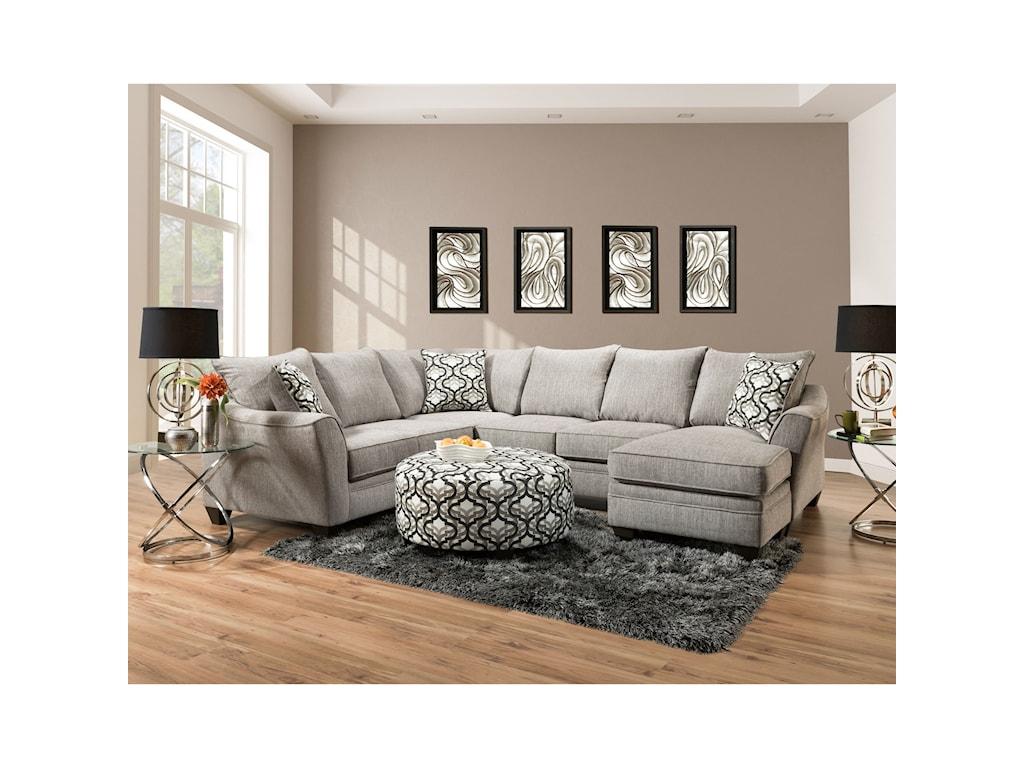 American Furniture 4810Round Ottoman
