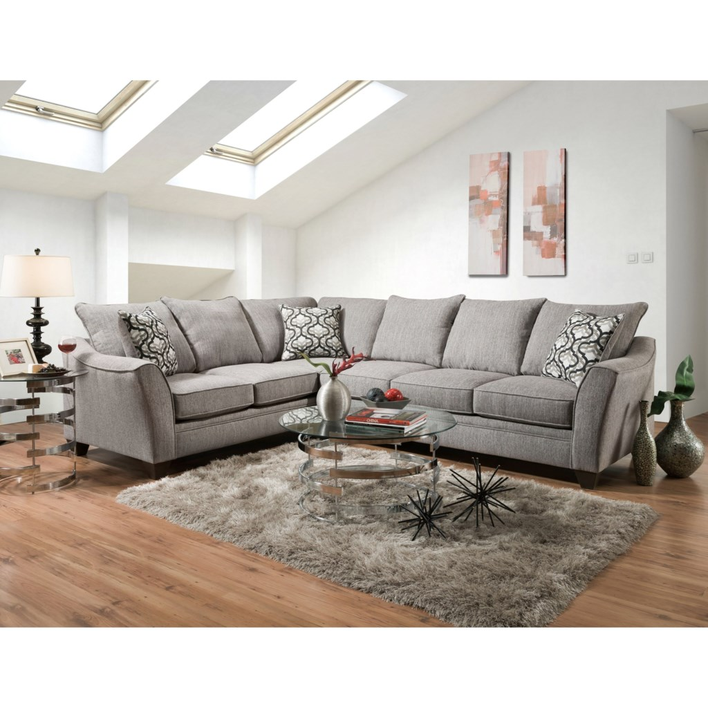 American Furniture 4810 5 Seat Sectional Sofa Prime Brothers