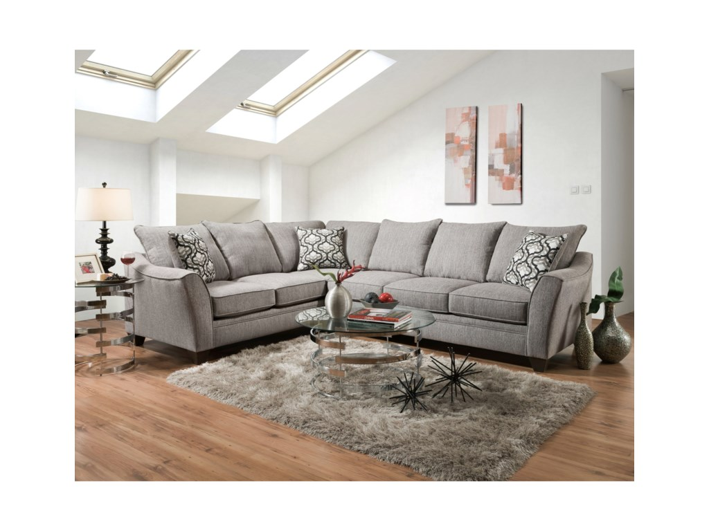 Peak Living 48105 Seat Sectional Sofa