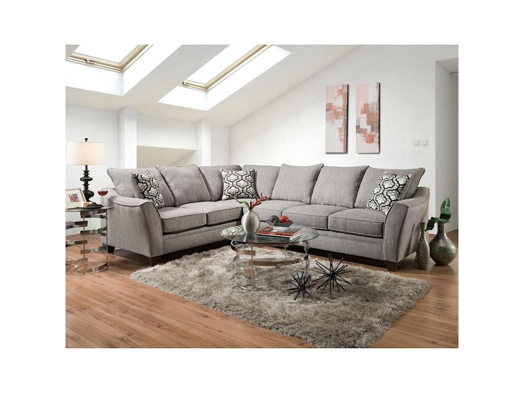 American Furniture 48105 Seat Sectional Sofa