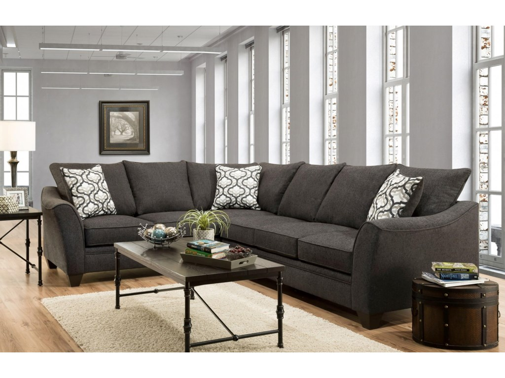 4810 5 Seat Sectional Sofa by American Furniture at Prime Brothers Furniture