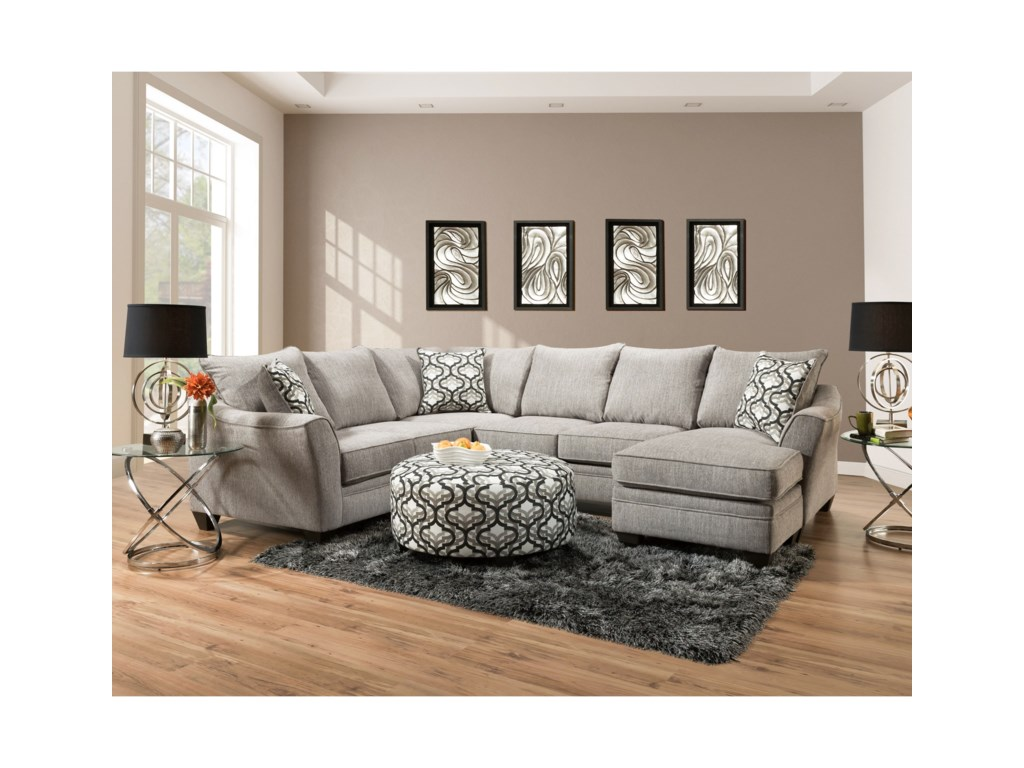 Peak Living 48105 Seat Sectional Sofa with Chaise