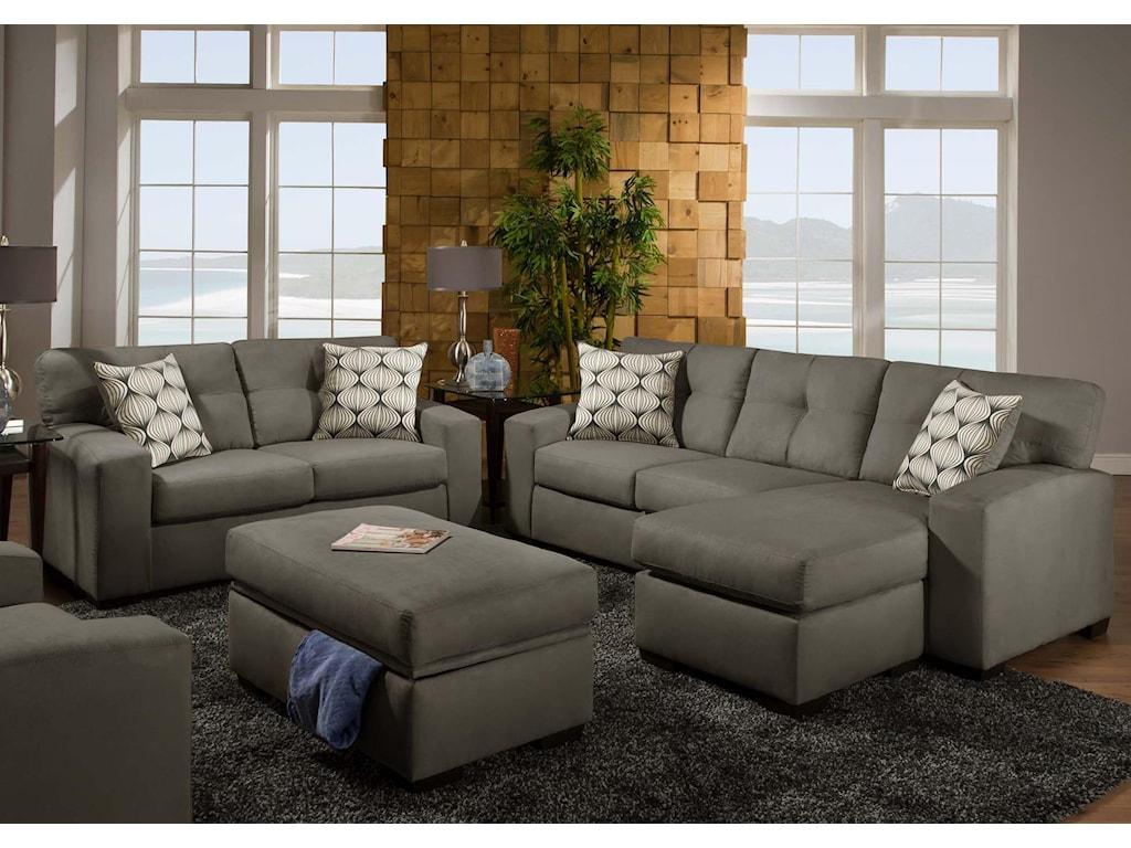 American Furniture 5100 GroupStorage Ottoman