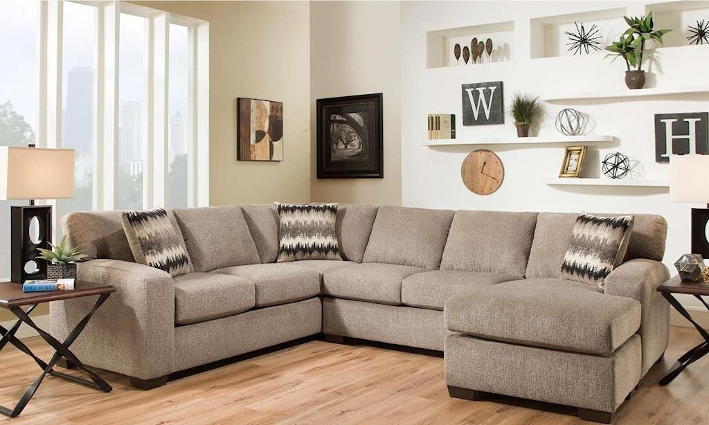 American furniture 5250 sectional sofa seats 5