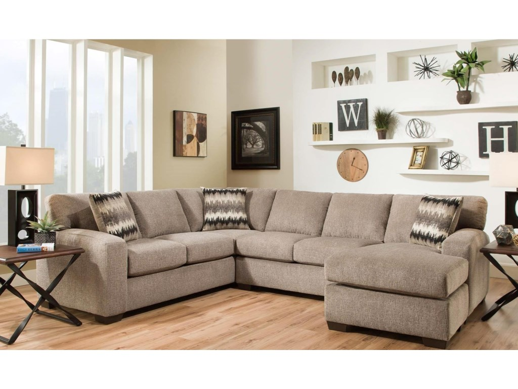American Furniture 5250 Sectional Sofa - Seats 5 | Prime Brothers ...