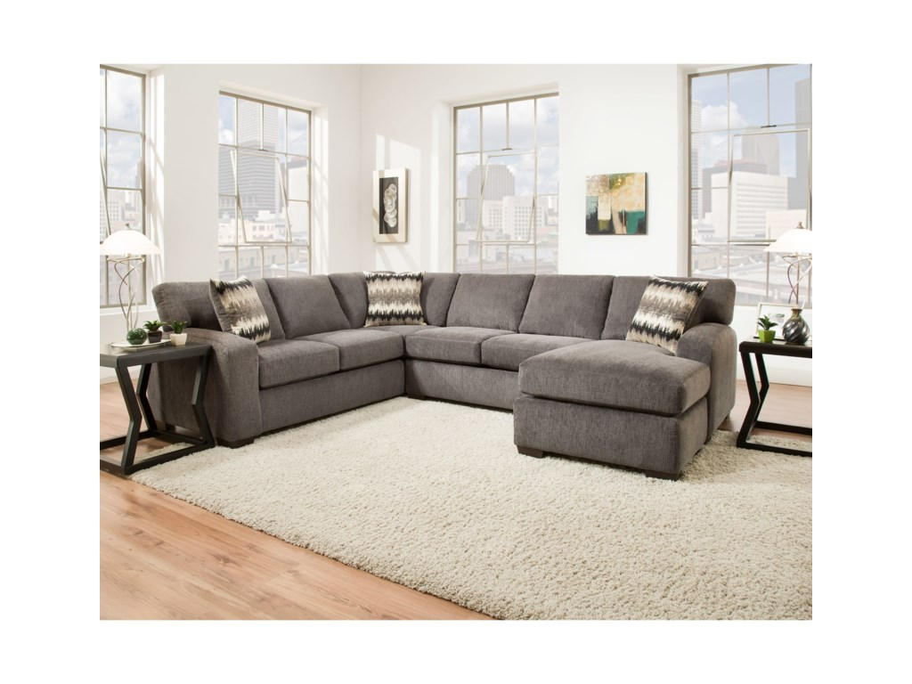 American Furniture 5250Sectional Sofa - Seats 5