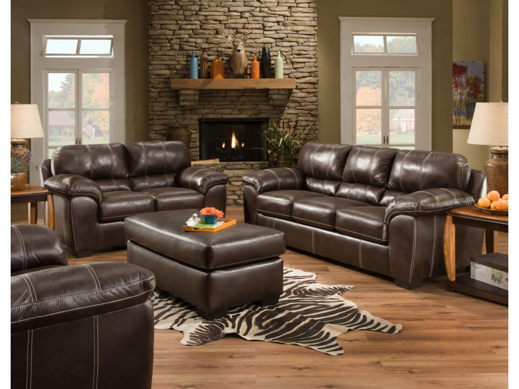 American Furniture 5450Stationary Living Room Group