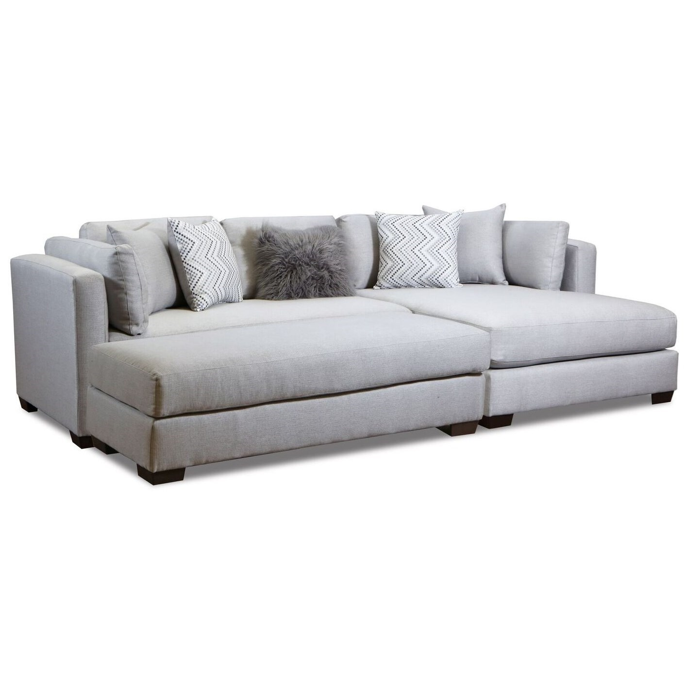 american furniture 5500 chaise inspired sectional sofa prime rh primebrothers com Designer Sectional Sofas Tufted Sectional Sofa with Chaise