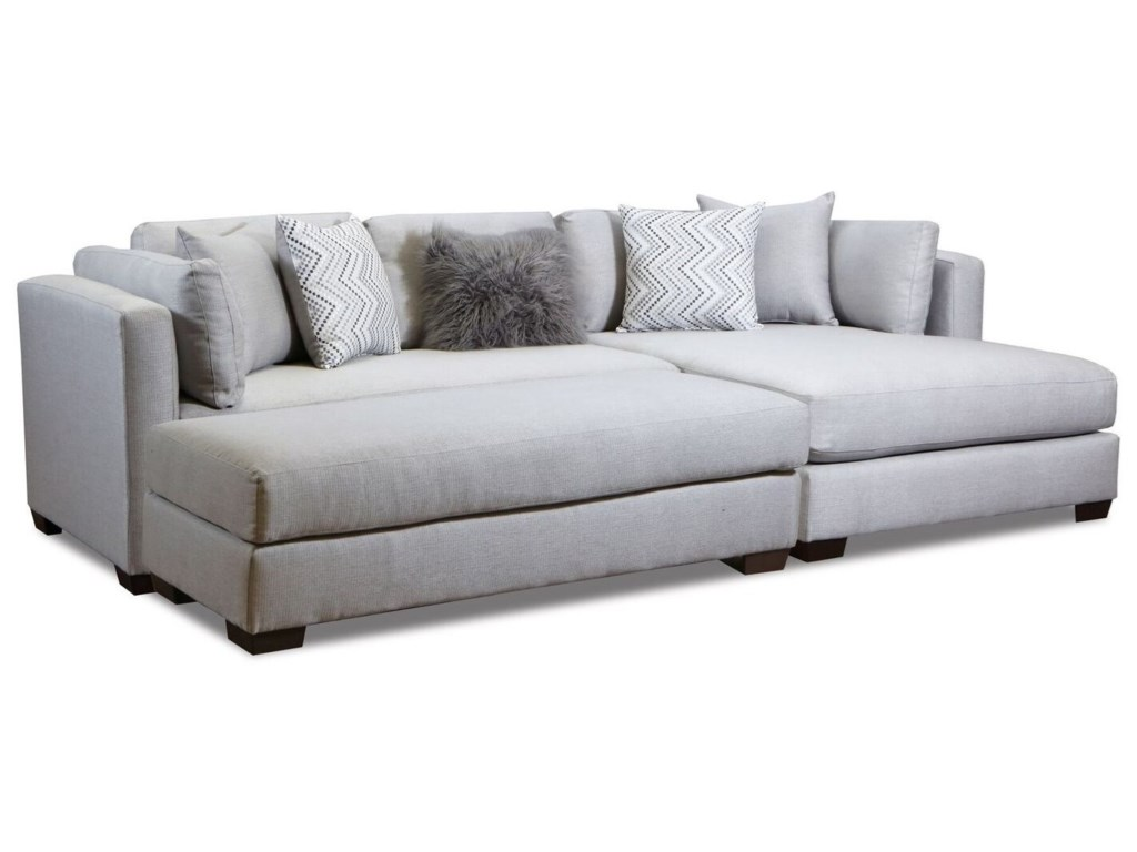 American Furniture 5500 Parker Silver 2 pc Sectional Sofa with ...