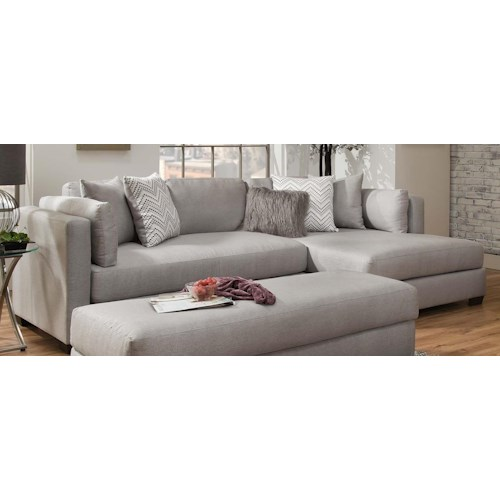 American Furniture 5500 Chaise-Inspired Sectional Sofa | Furniture ...