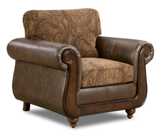 american furniture 5850 5851 6370 chair with traditional style