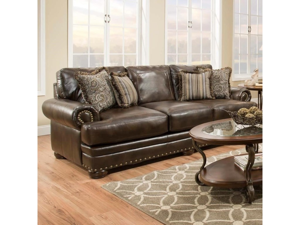 American Furniture 6400Sleeper Sofa with Traditional Style