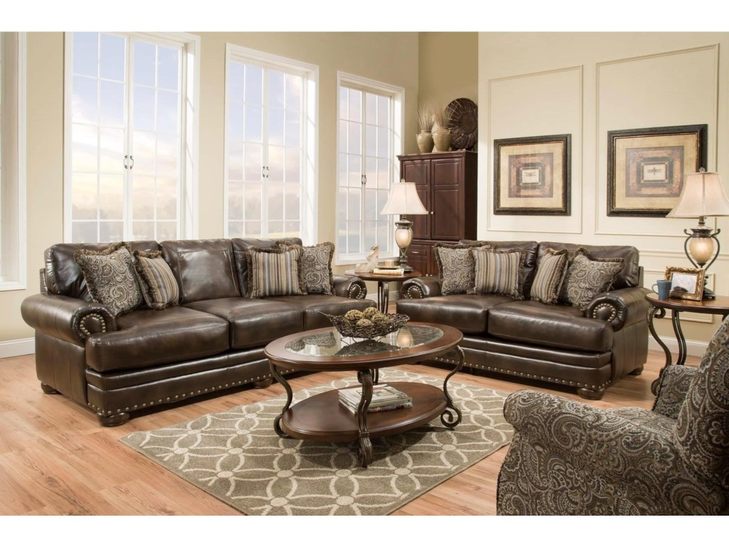 American Furniture 6400Sofa with Traditional Style