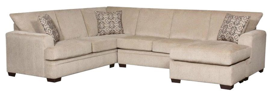 American Furniture 6800 Sectional Sofa With Right Side Chaise