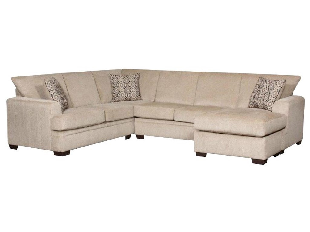 American Furniture 6800 Sectional Sofa with Right Side Chaise ...