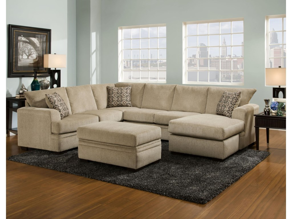 American Furniture 6800Sectional Sofa with Right Side Chaise
