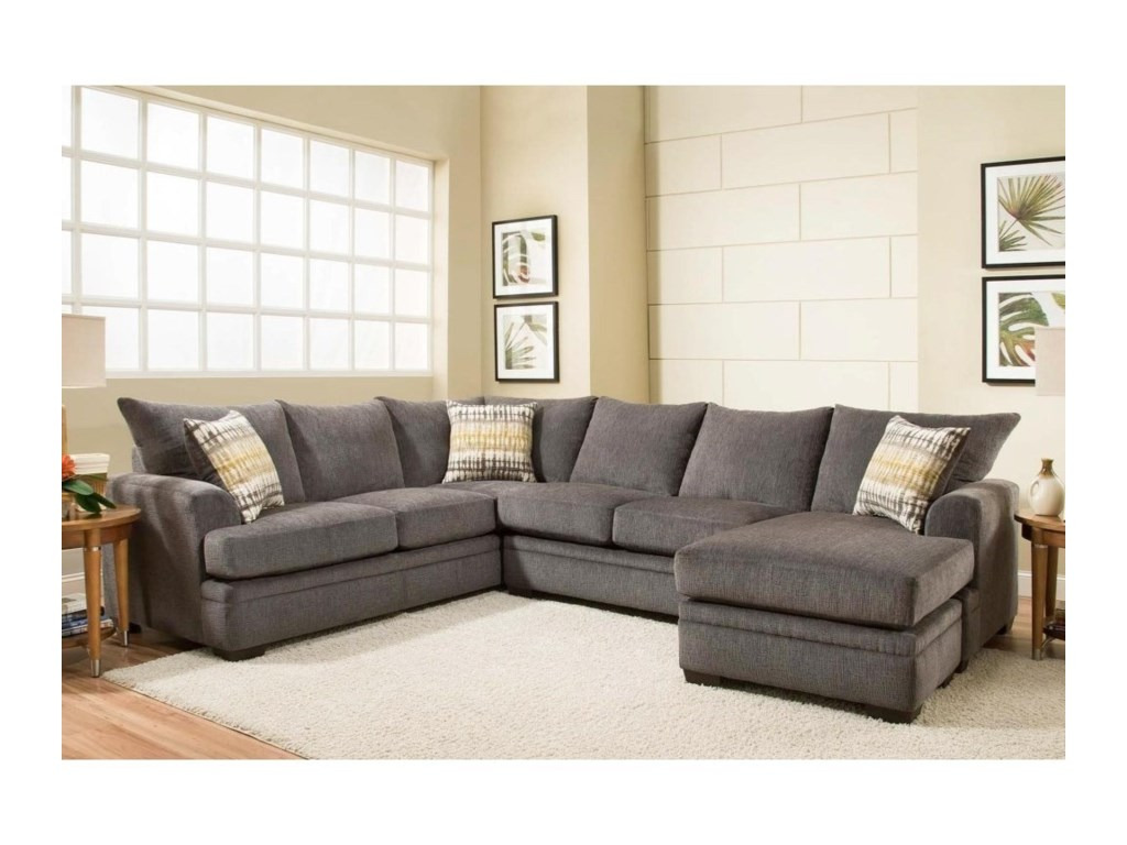 Peak Living 6800Sectional Sofa with Right Side Chaise