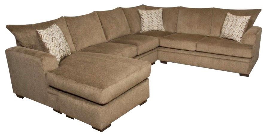 American Furniture 6800Sectional Sofa With Left Side Chaise ...