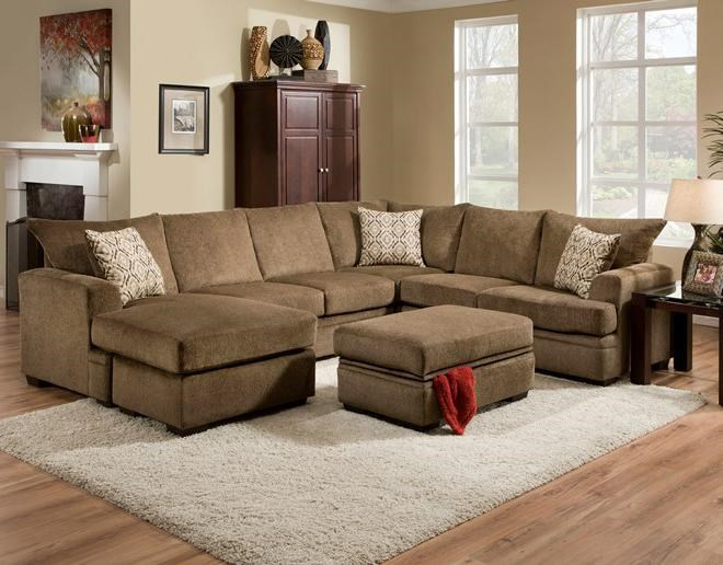 ... Vendor 610 6800Sectional Sofa With Left Side Chaise